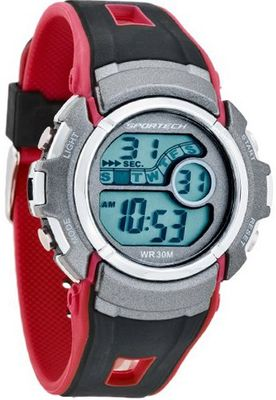 Sportech SP10103 - Digital Sport - Fusion Shock Resistant Tricolor Red Black & Grey