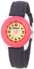 Sprout ST/1040PKIVGY Black Organic Cotton Strap Bamboo Dial Casual