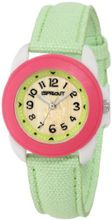 Sprout ST/1041PKIVLM Lime Green Organic Cotton Strap Bamboo Dial