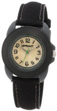 Sprout ST/1047BKGYBK Black Organic Cotton Strap Bamboo Dial