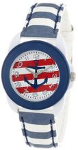 Sprout ST/1051WTST Easy-to-Read Nautical Theme Dial Blue Stripe Tyvek Strap