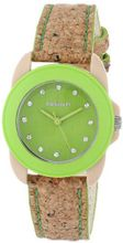 Sprout ST/1057GNCK Swarovski Crystal Accented Green Dial Natural Cork Strap