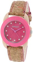 Sprout ST/1057PKCK Swarovski Crystal Accented Pink Dial Natural Cork Strap