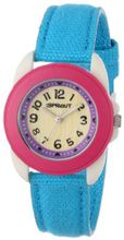 Sprout ST/1060DPTQ Easy-to-Read Dial Turquoise Organic Cotton Strap