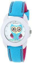Sprout ST/1061MPBL Swarovski Crystal Accented Owl Dial Blue Organic Cotton Strap