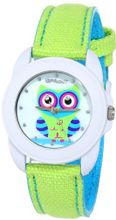 Sprout ST/1061MPGN Swarovski Crystal Accented Owl Dial Green Organic Cotton Strap