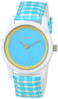 Sprout ST/5522BLBL Blue Dial and Gingham Pattern Tyvek Strap