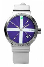 St. Gallen Disinfectable - Color Clean Collection - Mechanical Automatic , 3 Counters Pulsation Calibration, Guilloche In Purple Lacquer Dial