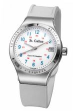 St. Gallen Disinfectable - Florence Nightingale Collection - Quartz , Counter For Pulsation Calibration, Ceramic White Color Dial