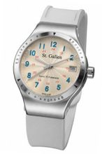 St. Gallen Disinfectable - Florence Nightingale Collection - Quartz , Counter For Pulsation Calibration, Sunray Ceramic Ivory Color Dial
