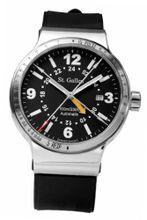 St. Gallen Disinfectable - GMT Collection - Mechanical Automatic , Counters For Pulsation & Respiration Calibration, Matt Black Dial