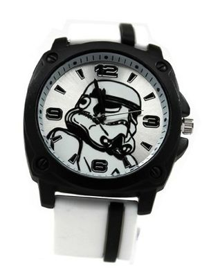 Star Wars Stormtrooper with White Rubber Strap (STM1104)
