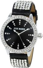 Steve Madden SMW00010-02 Black Strap with Crystal Accents