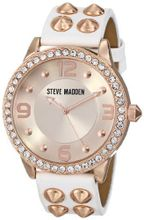 Steve Madden SMW00010-06 Analog Display Quartz White