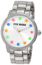 Steve Madden SMW00012-42 Analog Display Quartz Silver