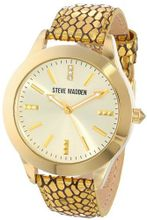 Steve Madden SMW00027-03 Metallic Gold Python Textured Leather Strap