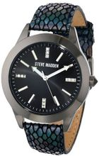Steve Madden SMW00027-04 Metallic Black Python Textured Leather Strap