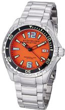 Stuhrling Original 382.331117 Prestige Swiss Regatta Captain Quartz Diver Date Orange Dial