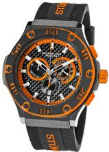Stuhrling Prestige 292P.335957 Prestige Swiss Made Harbinger Quartz Chronograph Date Orange