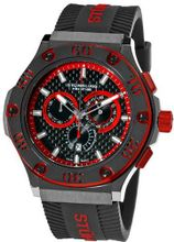 Stuhrling Prestige 292P.335964 Prestige Swiss Made Harbinger Quartz Chronograph Date Red