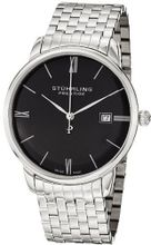 Stuhrling Prestige 307B.33111 Prestige Swiss Made Kingston Grand Quartz Date Ultra Slim Stainless Steel Bracelet