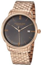 Stuhrling Prestige 307B.334469 Prestige Swiss Made Kingston Grand Quartz Date Ultra Slim Rose Tone Bracelet