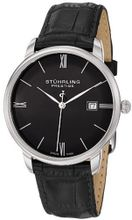 Stuhrling Prestige 307L.33151 Prestige Swiss Made Kingston Quartz Date Ultra Slim Black