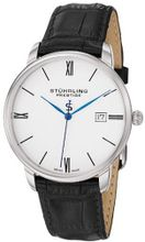"Stuhrling Prestige 307L.33152 ""Kingston"" Stainless Steel with Black Leather Strap"