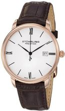 Stuhrling Prestige 307L.334K2 Prestige Swiss Made Kingston Quartz Date Ultra Slim Brown