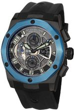 Stuhrling Prestige 311B.33U61 Prestige Swiss Made Automatic Valjoux 7750 Columbiad Chronograph Multi-Function Blue