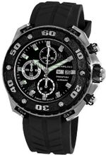 Stuhrling Prestige 322A.33161 Prestige Swiss Made Automatic Valjoux 7750 Maverick Chronograph Multifunction Black