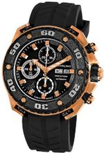 Stuhrling Prestige 322A.33461 Prestige Swiss Made Automatic Valjoux 7750 Maverick Chronograph Multifunction Rose Tone
