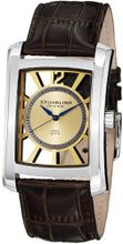 Stuhrling Original 144D.3315K31 Gatsby Quartz Date Brown