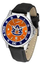 Auburn Tigers Competitor AnoChrome with Nylon/Leather Band and Colored Bezel