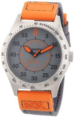 Superdry Gents Grey and Orange Sports