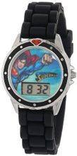 Superman Kids' SUP9007 Digital Display Quartz Black