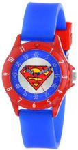 Superman Kids' SUP9010 Analog Display Analog Quartz Blue