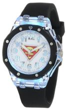 Superman Kids' SUP9026 Black Superman Flashing Dial