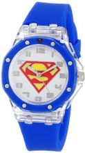 Superman Kids' SUP9027 Analog Display Analog Quartz Blue