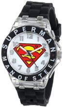 Superman Kids' SUP9048 Analog Display Analog Quartz Black