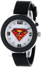 Superman Kids' SUP9065 Analog Display Analog Quartz Black