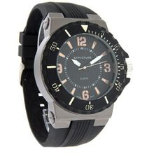 Structure by Surface 48mm Formula 1 Black Rubber Strap 32706