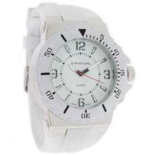 Structure by Surface 48mm Formula1 White Rubber Strap 32658