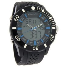 Structure by Surface 51mm Digital Alarm Chrono Black Rubber 32737