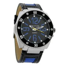 Structure by Surface Black Ion XL Black/Blue Leather Strap 32551-104