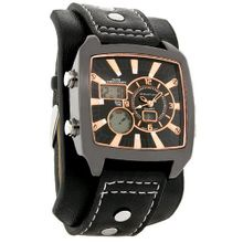 Structure by Surface Black & Rose Gold Alarm Chrono Cuff Band 32377