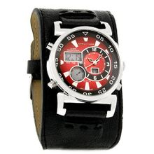 Structure By Surface Red/Blk Digital/Analog Alarm Chronograph Quartz 32371
