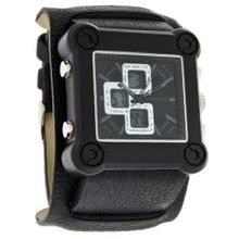 Structure by Surface Square Analog-Digital Chrono Black Cuff 32675