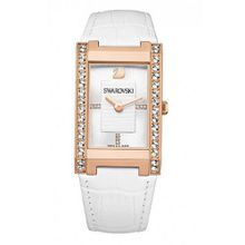 Swarovski Citra Square White Dial Leather Quartz Ladies 1094370