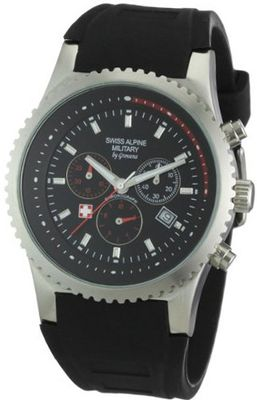 Swiss Alpine Military Quartz SP287 2870.9837SAM with Rubber Strap